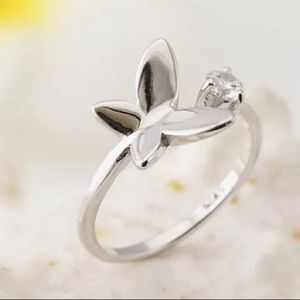 Stunning Resizable Butterfly Sterling Silver Ring